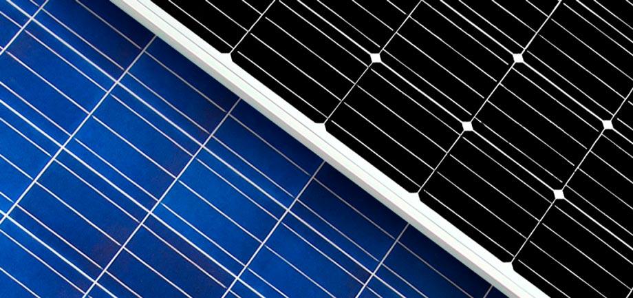 panel solar monocristalino y policristalino